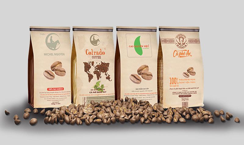 Kết quả hình ảnh cho chất liệu bao bì cafe