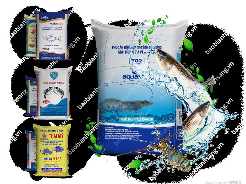 Bao bì PP dệt đựng thức ăn thủy sản - Bao Bì Ánh Sáng