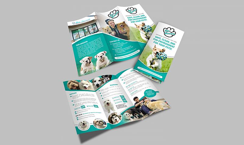 brochure dịch vụ chăm sóc thú cưng