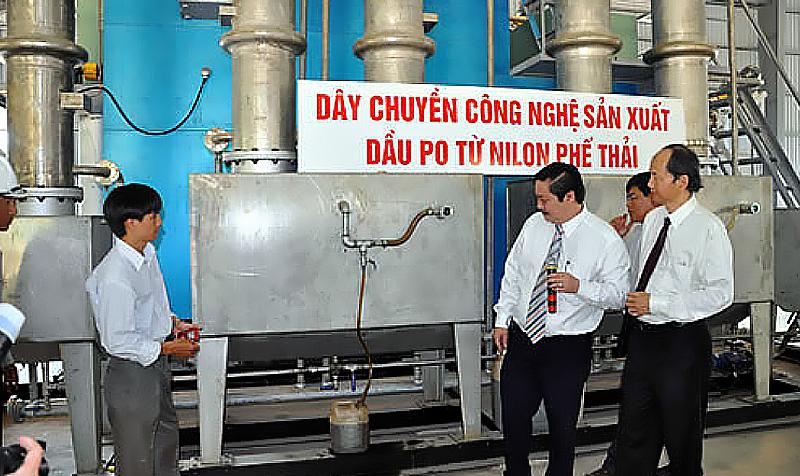 dây chuyền sản xuất túi nilon thành dầu PO và RO