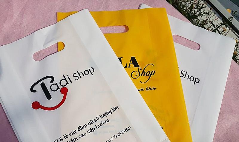 túi PE được in ấn logo quảng bá thương hiệu