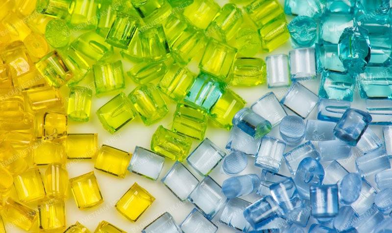 Bao bì nhựa được cấu tạo từ các hạt nhựa dẻo