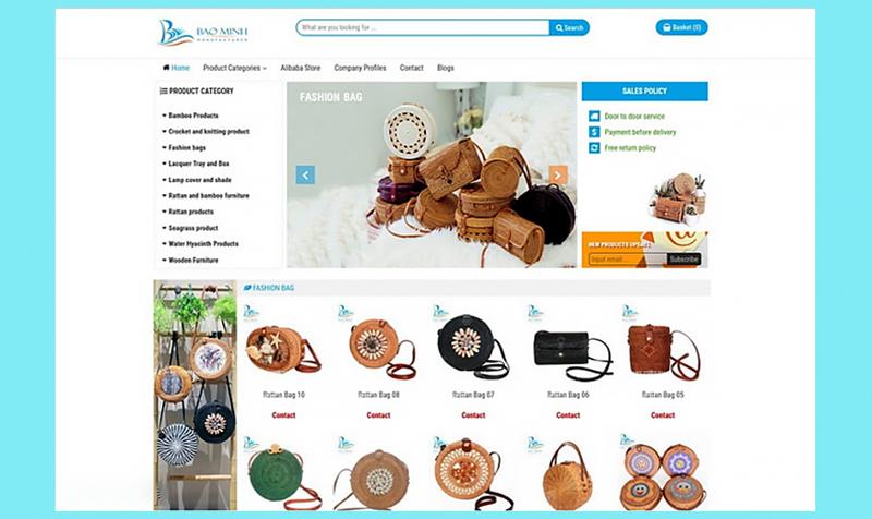 Công ty cổ phần sản xuất Bảo Minh với các sản phẩm mây tre đan truyền thống xuất khẩu sang Mỹ và Hàn Quốc là doanh nghiệp chú trọng vào cách thiết kế bao bì sản phẩm và website